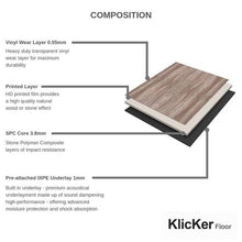 Load image into Gallery viewer, KlicKer Floor® Sand Stone SPC - 1.86M² Pack