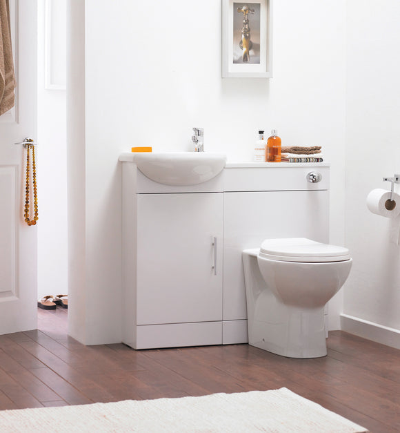 Sienna Gloss White Cloakroom Pack