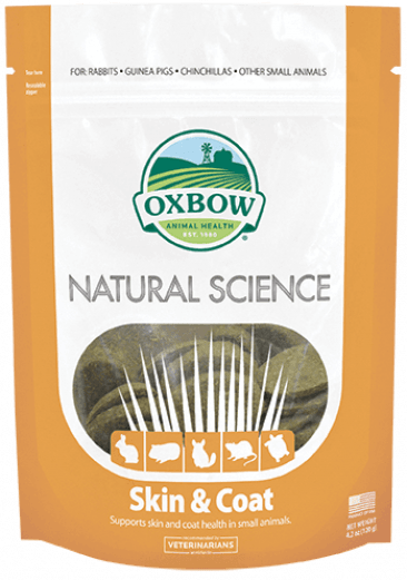 Oxbow Natural Science Skin & Coat Supplement For Small Animals - 60 ct