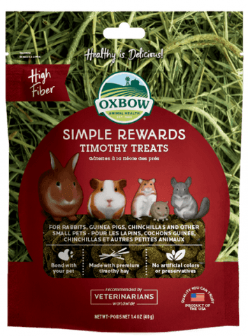 Oxbow Simple Rewards Timothy Treat For Small Animals - 1.4 oz Bag