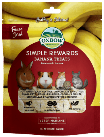 Oxbow Simple Rewards Banana Treat For Small Animals -  1 oz Bag