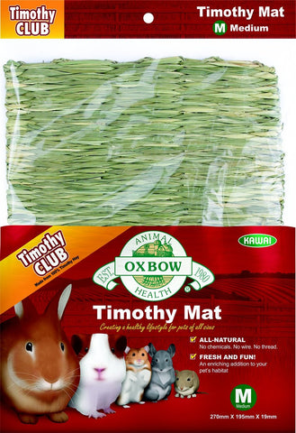 Oxbow Timothy Club Edible Mats For Small Animals
