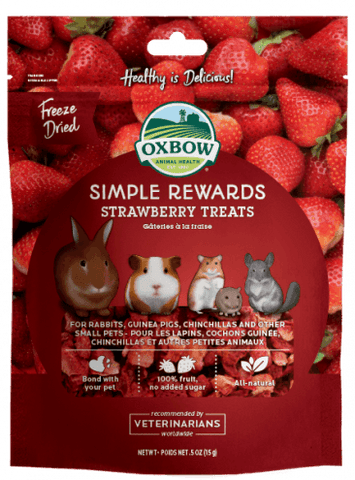 Oxbow Simple Rewards Strawberry Treat For Small Animals - .5 oz Bag