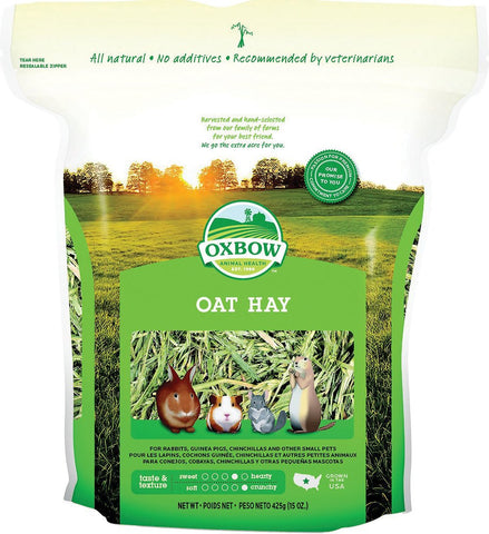 Oxbow Oat Hay For Small Animals - 15 oz Bag