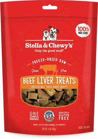 Stella & Chewy's Beef Liver Recipe Freeze Dried Dog Treats - 3 oz Bag