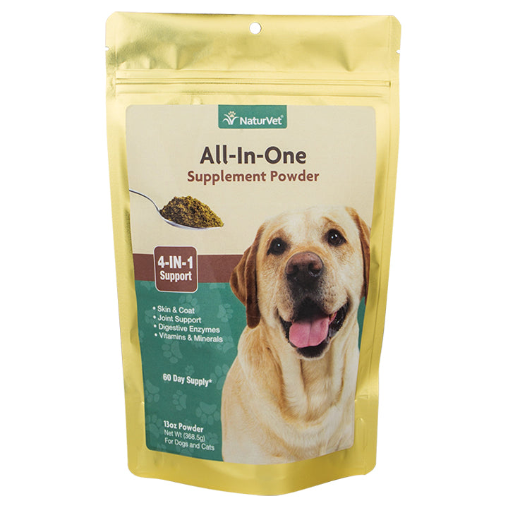 NaturVet Allergy All-in-One Powder Supplement 60 Day - 13oz Bag