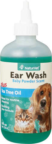 NaturVet Grooming Ear Wash w/Tea Tree Oil - 8oz