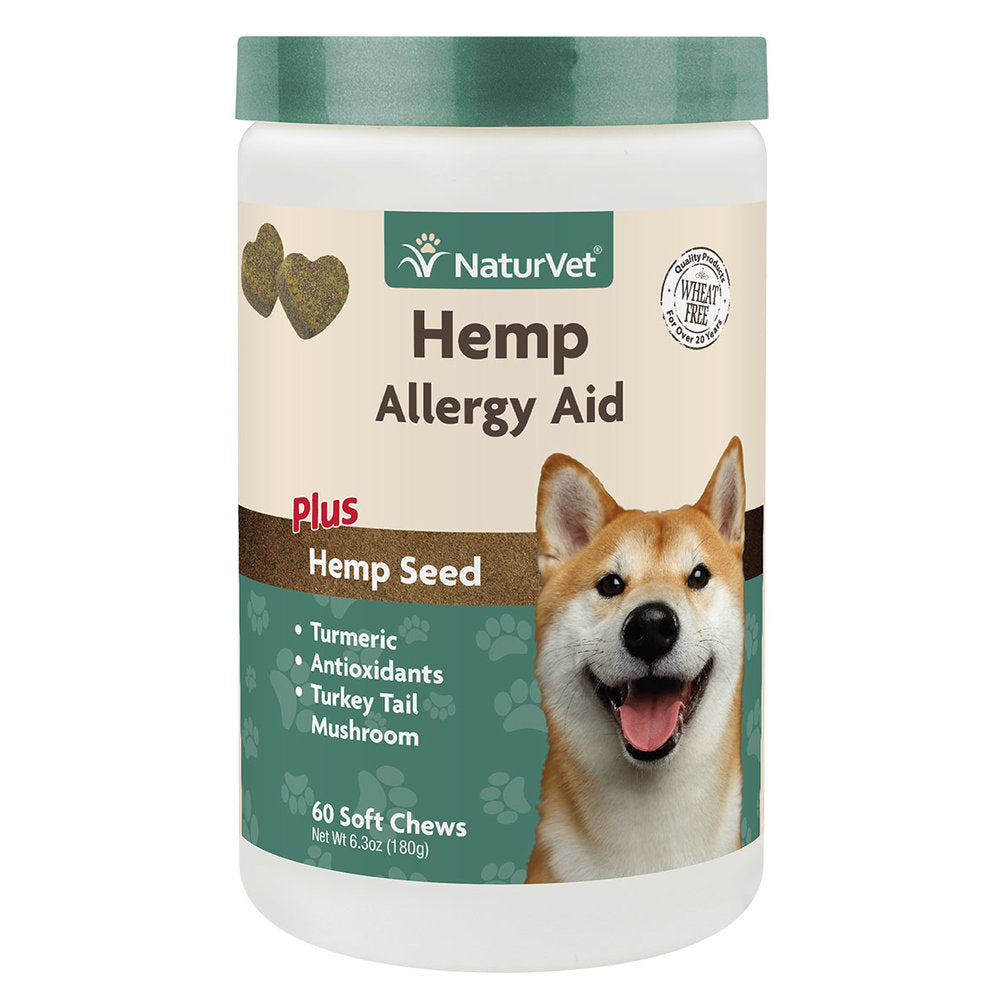 NaturVet Calming Aids - Hemp Quiet Moments Plus Hemp Seed SC - 180 ct