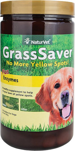 NaturVet Yard Care Grass Saver Wafers - 300 count Bottle