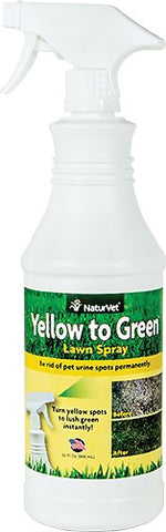 NaturVet Yard Care - Yellow to Green Lawn Spray - 32oz Bottle