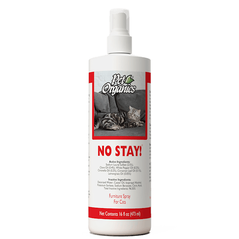 NaturVet Training Aids - No Stay! Furniture Spray for Cats  - 16 oz Bottle