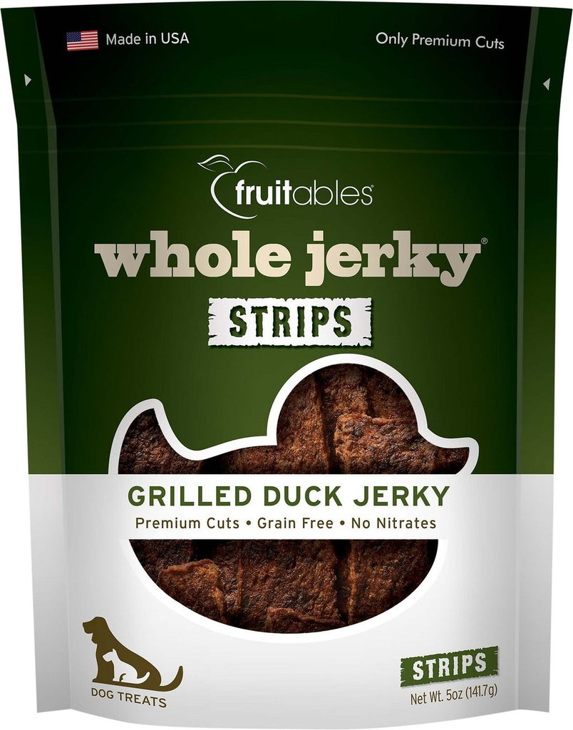 Fruitables Whole Jerky Grilled Duck Dog Treats - 5 oz Bag