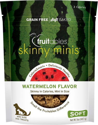 Fruitables Skinny Minis Soft & Chewy Watermelon Flavor Dog Treats - 5 oz Bag