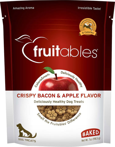 Fruitables Crunchy Crispy Bacon & Apple Flavor Dog Treats - 7 oz Bag