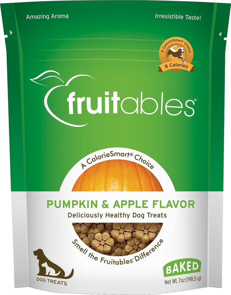Fruitables Crunchy Pumpkin & Apple Flavor Dog Treats - 7 oz Bag