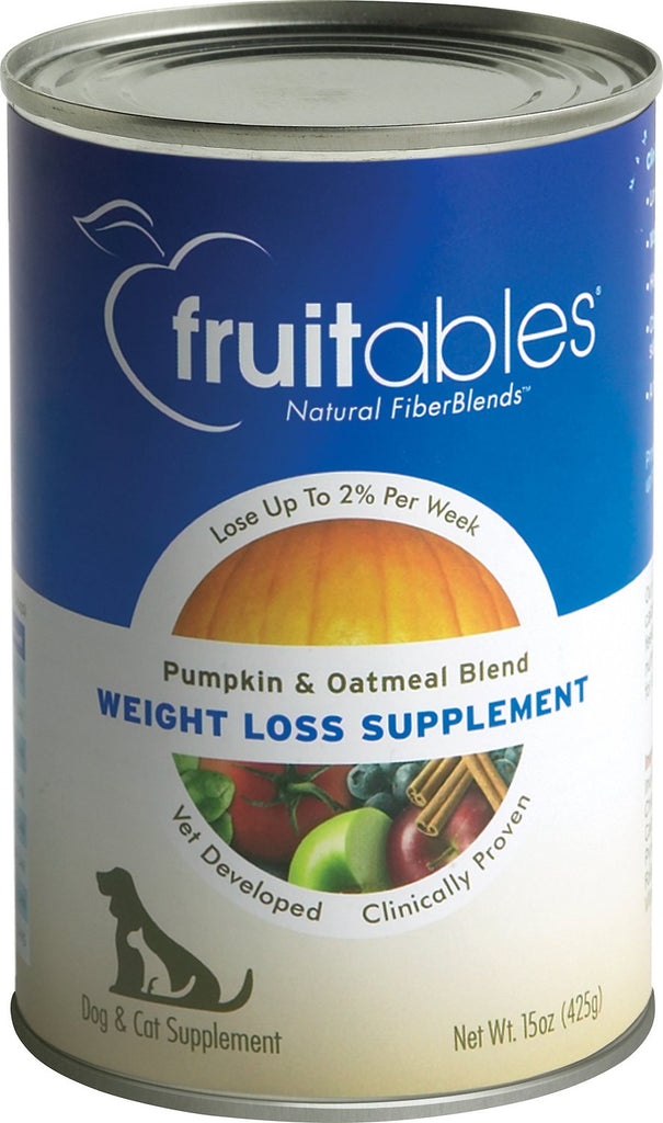 Fruitables Pumpkin SuperBlend Weight Loss Supplement For Cats & Dogs - 12 15oz Cans