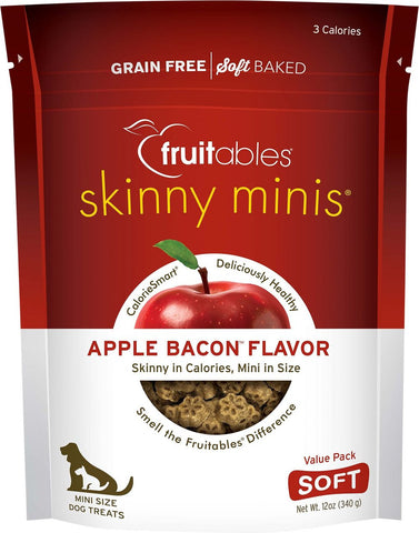 Fruitables Skinny Minis Soft & Chewy Apple & Bacon Flavor Dog Treats - 12 oz Bag