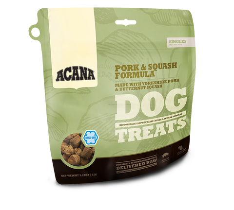 Acana Singles Treat Pork & Squash Dog Treats - 3.25 oz Bag
