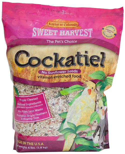 Kaylor of Colorado Sweet Harvest Cockatiel Seed - Without Sunflower Seeds