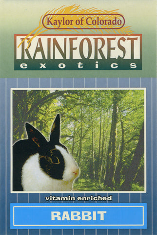 Kaylor of Colorado Rainforest Exotics Rabbit Food