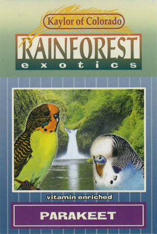 Kaylor of Colorado Rainforest Exotics Parakeet Seed