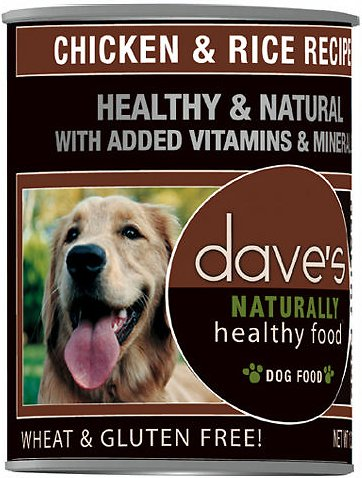 Daves Pet Food Naturally Healthy, Chicken & Rice 12/22oz