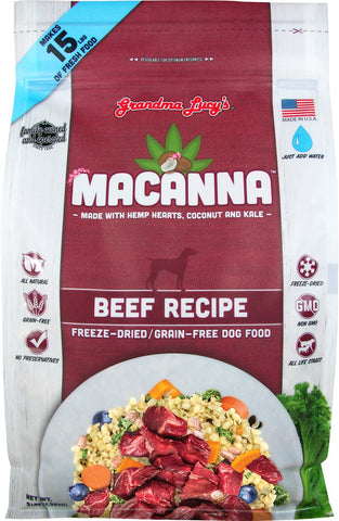 Grandma Lucy's Macanna Grain Free Freeze Dried Beef Dog Food