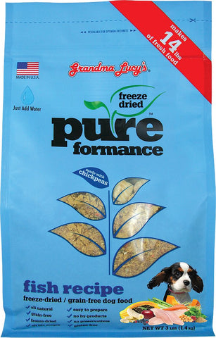 Grandma Lucy's Pureformance Grain Free Freeze Dried Fish and Chickpea Dog Food