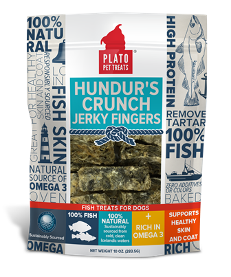 Plato Pet Treats Hundur's Crunch Icelandic Fish Jerky Fingers