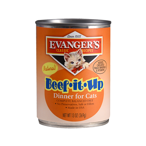 Evanger's Classics Line Beef It Up Dinner Canned Cat Food 12 pk/13 oz cans