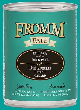 Fromm Family Chicken & Duck Pâté Canned Dog Food - 12/12.2 oz Cans