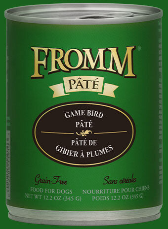 Fromm Family Game Bird Pâté Canned Dog Food - 12/12.2 oz Cans