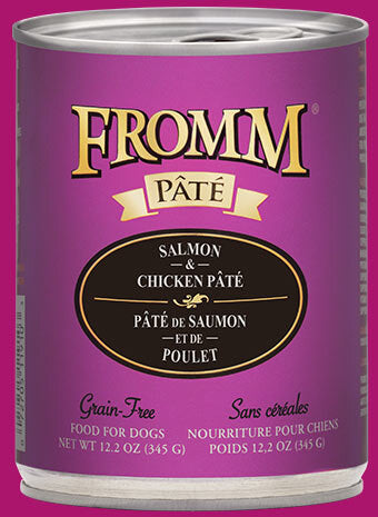 Fromm Family Salmon & Chicken Pâté Canned Dog Food - 12/12.2 oz Cans