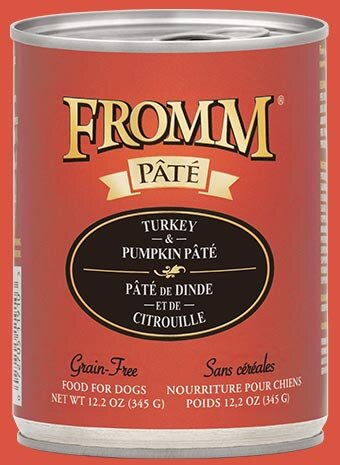 Fromm Family Turkey & Pumpkin Pâté Canned Dog Food - 12/12.2 oz Cans