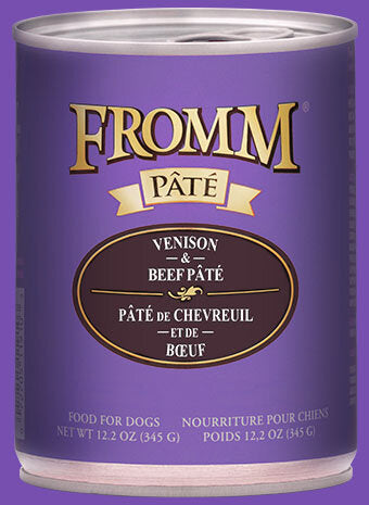 Fromm Family Venison & Beef Pâté Canned Dog Food - 12/12.2 oz Cans