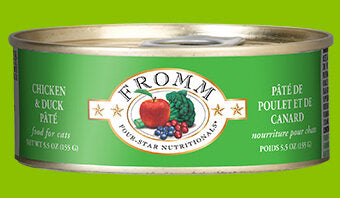 Fromm Family Chicken & Duck Pâté Canned Cat Food - 24/5.5 oz Cans