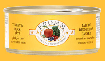 Fromm Family Turkey & Duck Pâté Canned Cat Food - 24/5.5 oz Cans