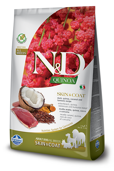 Farmina N&D Quinoa Functional Canine Skin & Coat Kibble - Duck Recipe