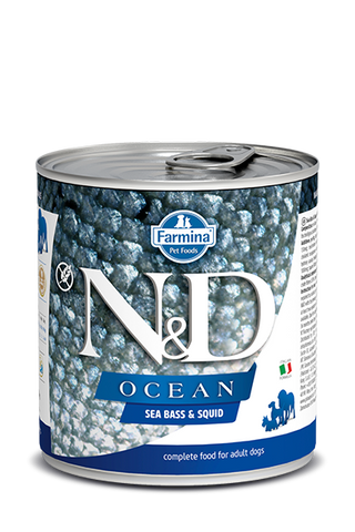Farmina N&D Ocean Canine Adult Wet Food - Sea Bass & Squid Recipe