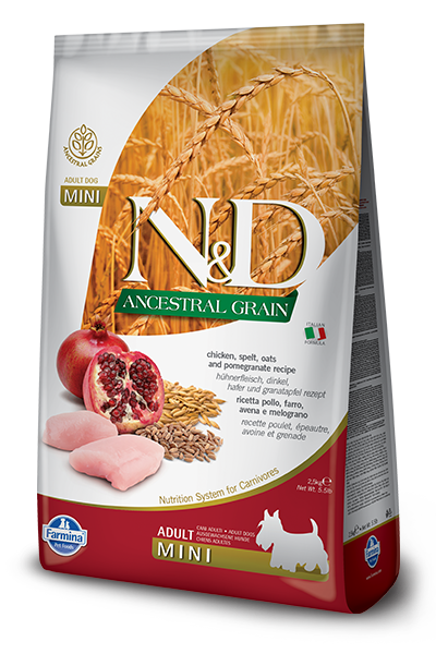 Farmina N&D Ancestral Grains Chicken & Pomegranate Recipe Adult Dog Food - Small Breed Adult