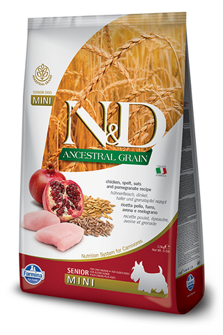 Farmina N&D Ancestral Grains Chicken & Pomegranate Recipe Dog Food - Small Breed Senior