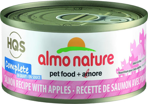 46239 Almo Nature USA HQS Salmon Recipe with Apple in Gravy 24/2.47oz