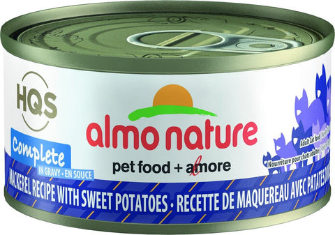 46240 Almo Nature USA HQS Mackerel Recipe with Sweet Potato in Gravy 24/2.47oz
