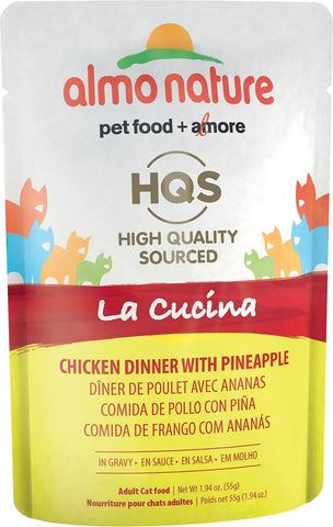 46245 Almo Nature USA HQS La Cucina Pouch Chicken with Pineapple in Gravy 24/1.94oz