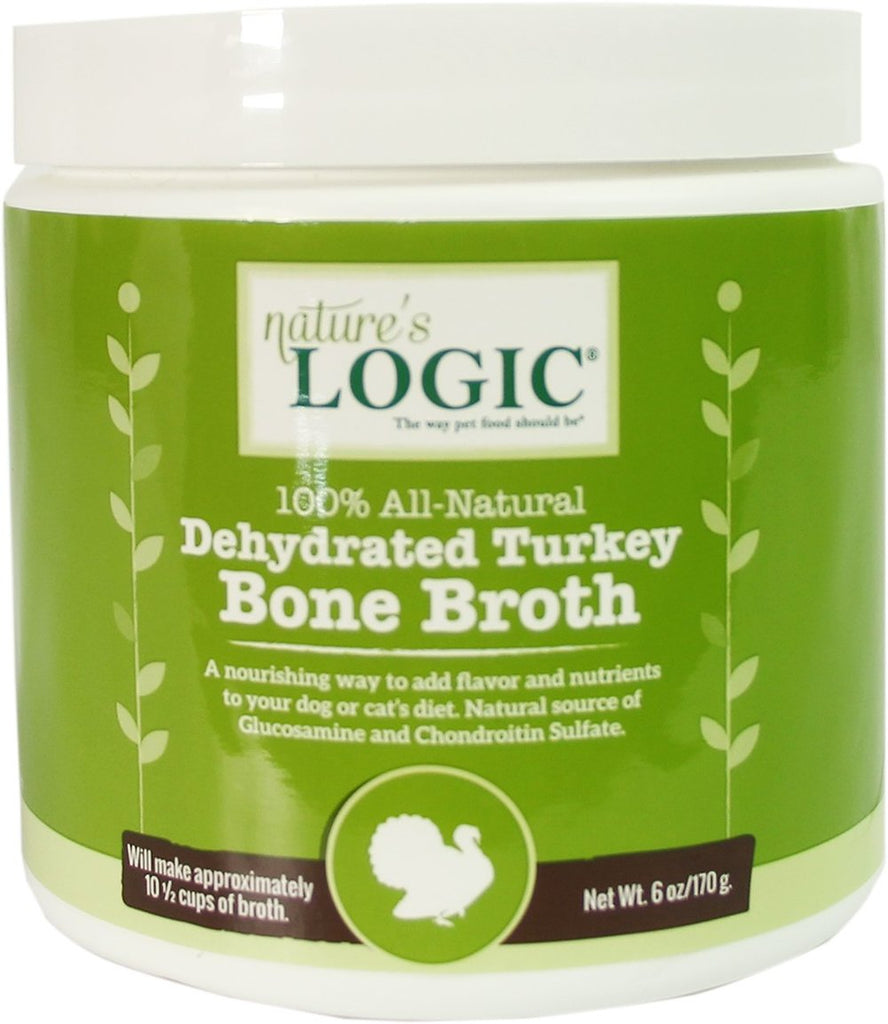 Nature's Logic Dehydrated Turkey Bone Broth for Dogs & Cats 6 oz Canister