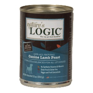 Nature's Logic Lamb Feast for Dogs 13.2 oz Can, case of 12