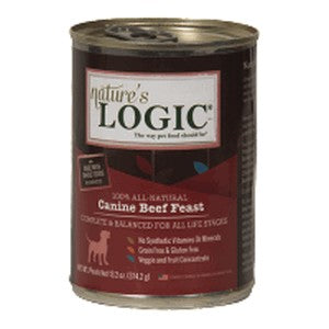 Nature's Logic Beef Feast for Dogs 13.2 oz Can, case of 12