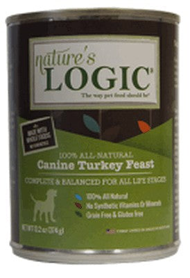 Nature's Logic Turkey Feast for Dogs 13.2 oz Can, case of 12