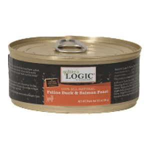Nature's Logic Feline Duck & Salmon Feast Cat Food 5.5 oz Cans, Case of 24