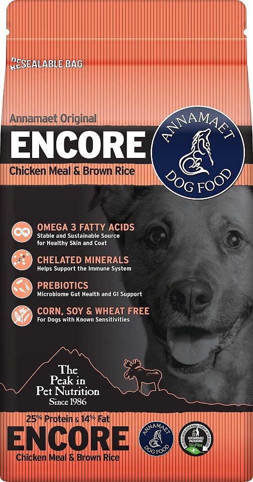 Annamaet Petfoods- 25% Encore Dog Dry Food